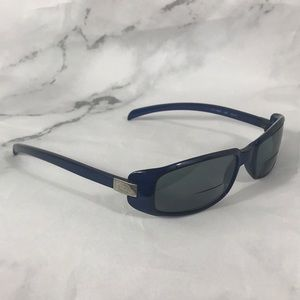 Gucci blue silver glasses frames only